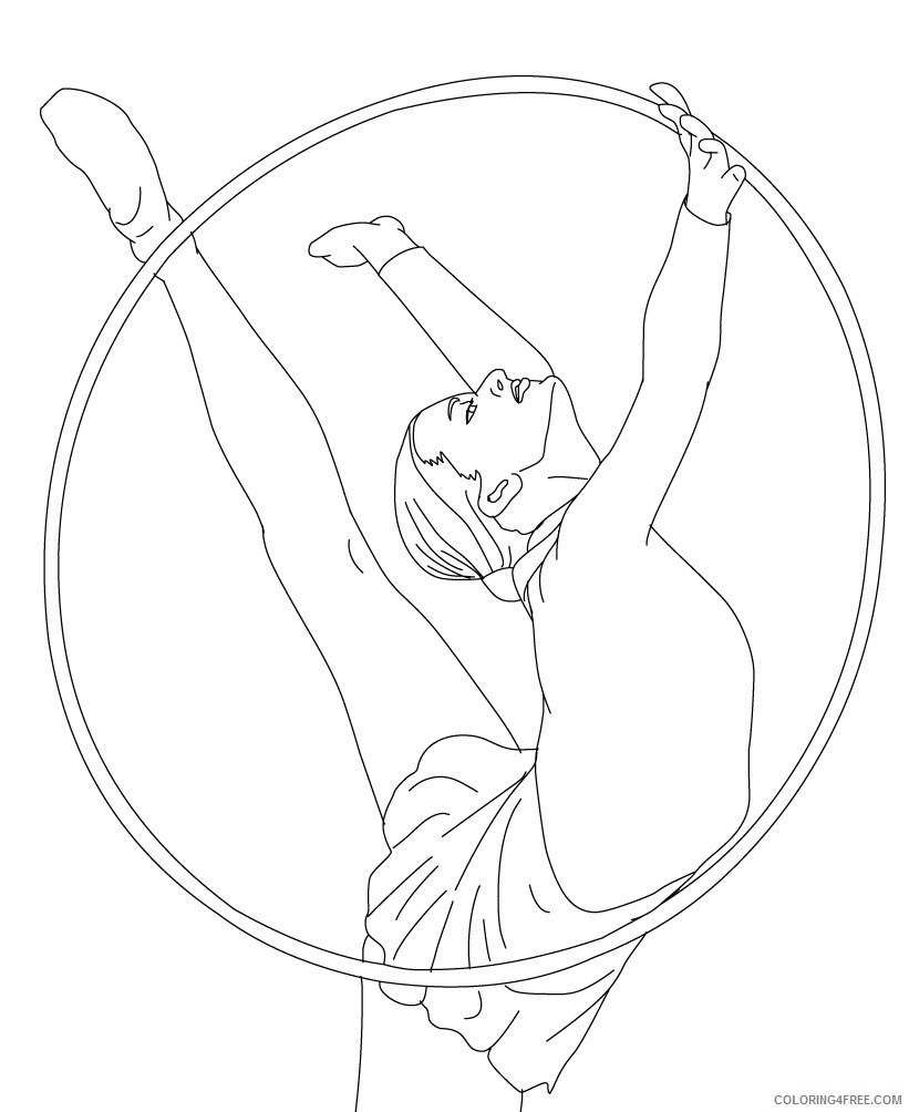 gymnastics coloring pages hoop Coloring4free