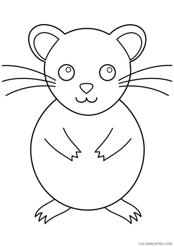 hamster coloring pages for toddler Coloring4free
