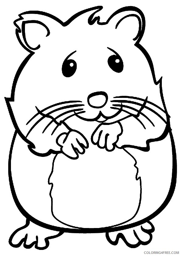 hamster coloring pages to print Coloring4free