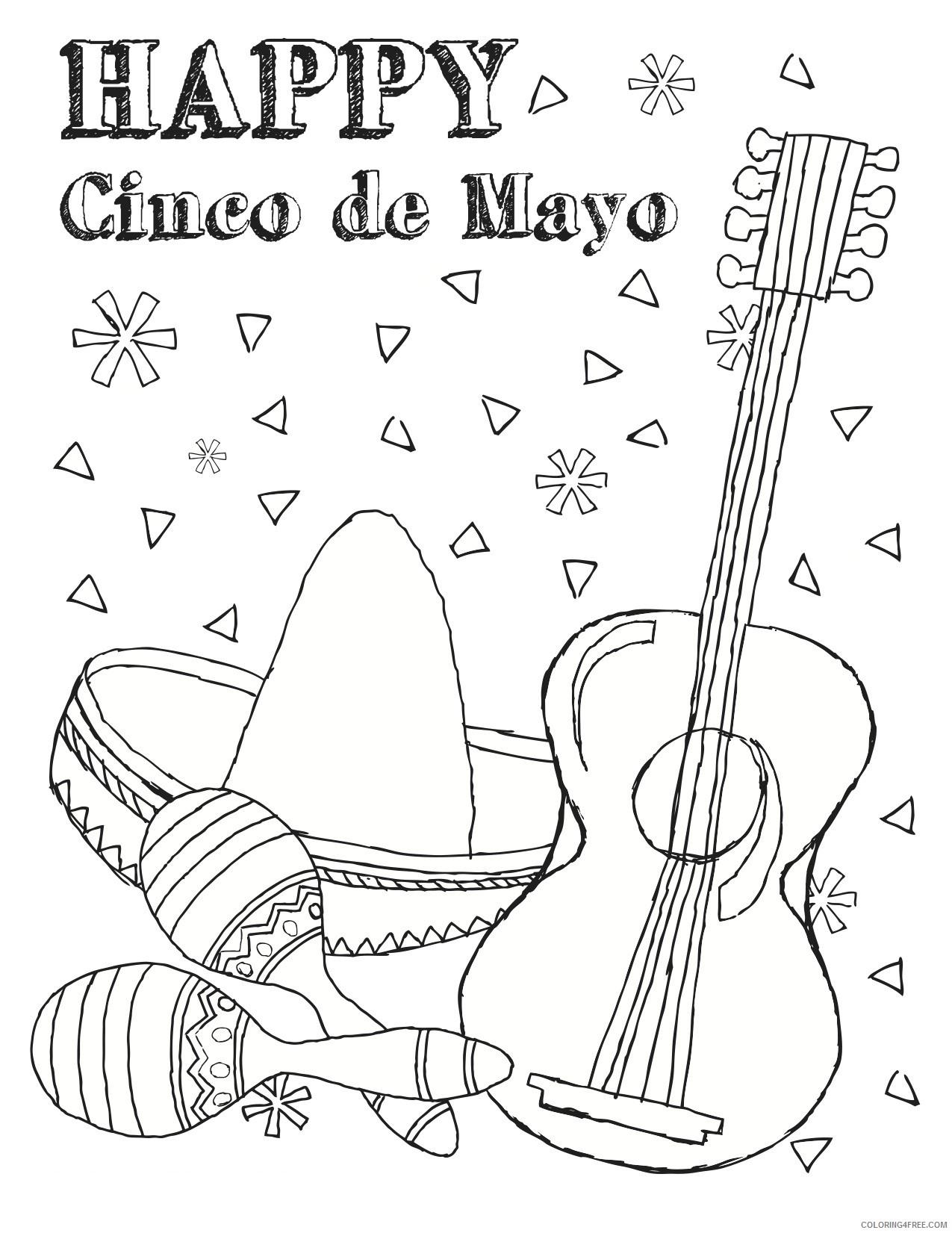 happy cinco de mayo coloring pages Coloring4free