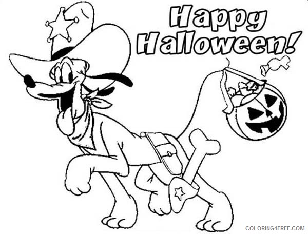 happy halloween coloring pages pluto Coloring4free