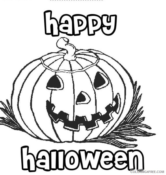happy halloween coloring pages pumpkin Coloring4free
