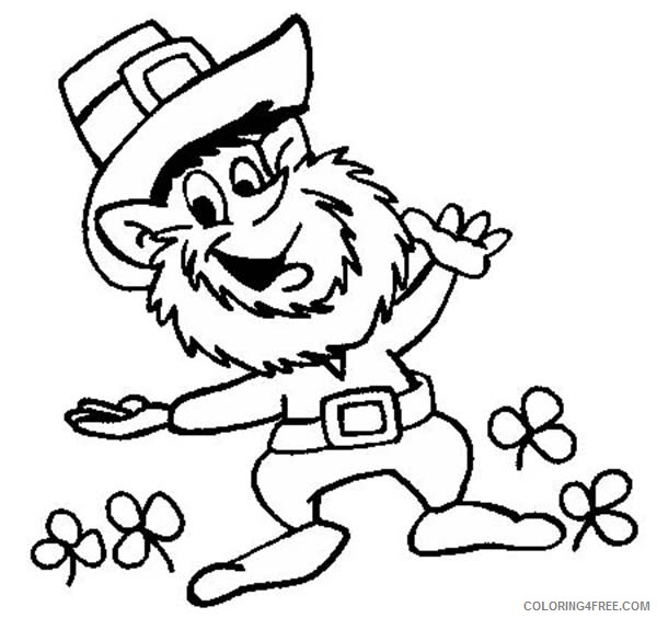 happy st patricks day coloring pages for kids printable Coloring4free