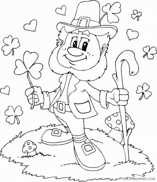 happy st patricks day coloring pages printable free Coloring4free
