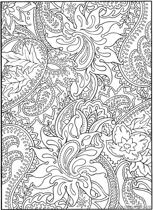 hard coloring pages for girls Coloring4free