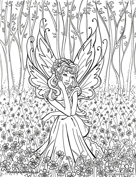 hard fairies coloring pages for girls Coloring4free