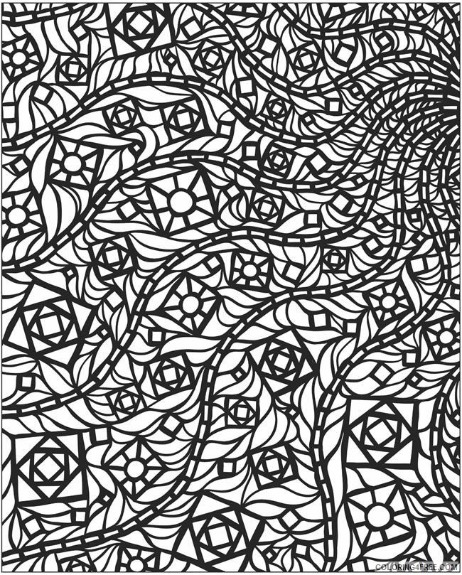 hard mosaic coloring pages Coloring4free