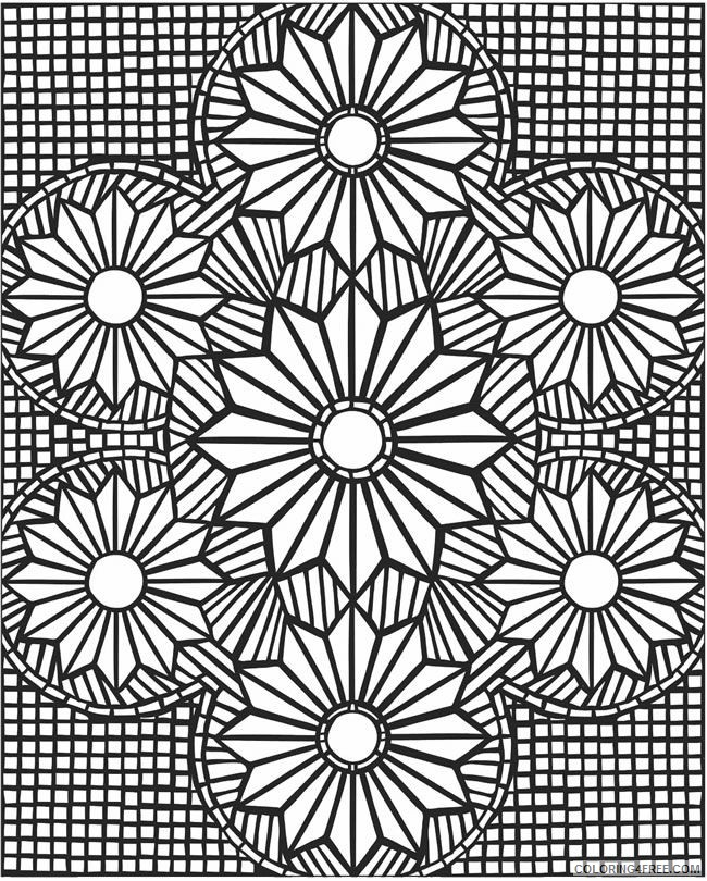 hard mosaic coloring pages for adults Coloring4free