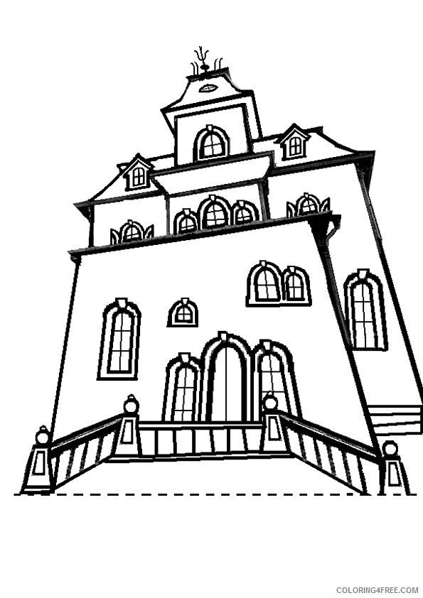 haunted house coloring pages dracula mansion Coloring4free