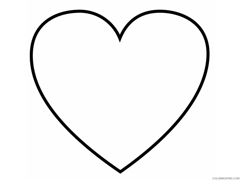 heart coloring pages blank heart Coloring4free
