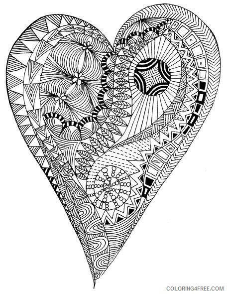 heart coloring pages for adults Coloring4free