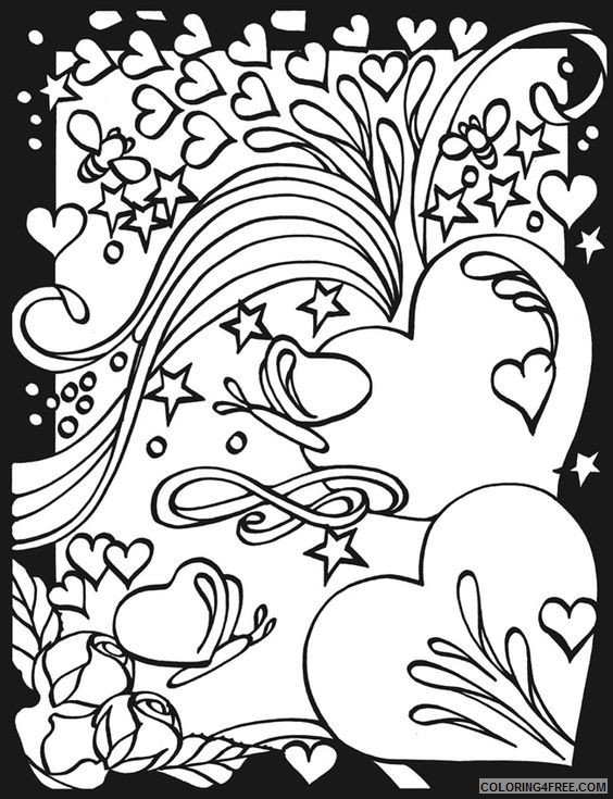 heart coloring pages for teenagers Coloring4free