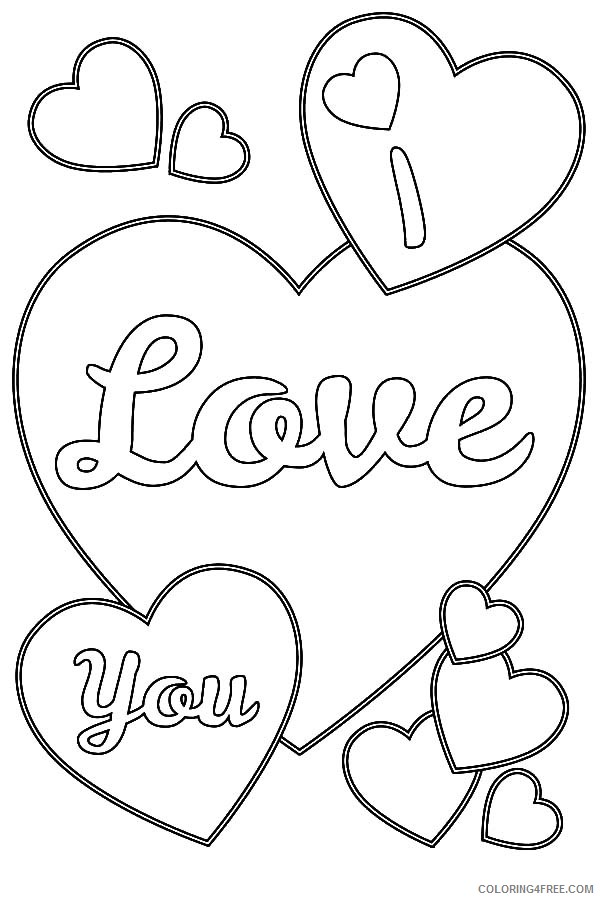 heart coloring pages love you Coloring4free