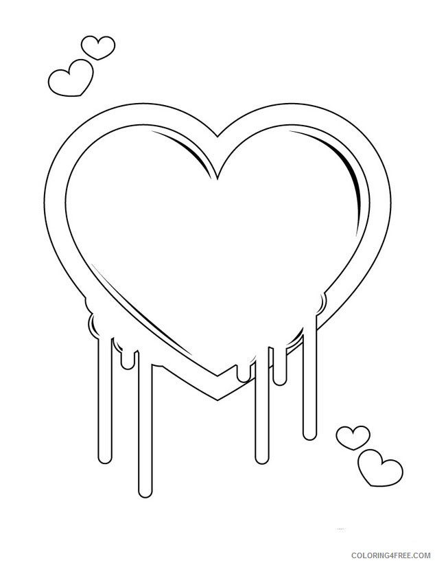heart coloring pages melting hearts Coloring4free