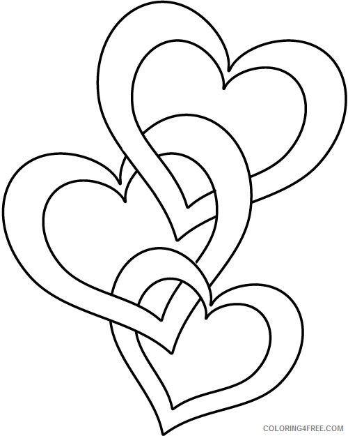 heart coloring pages to print Coloring4free