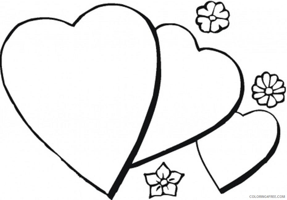 heart coloring pages with flowers Coloring4free