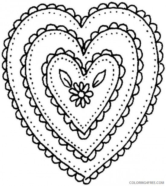heart mosaic coloring pages Coloring4free