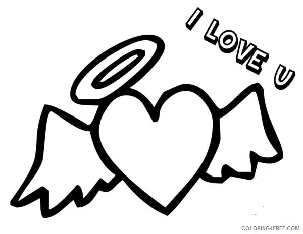 heart with wings coloring pages i love you Coloring4free