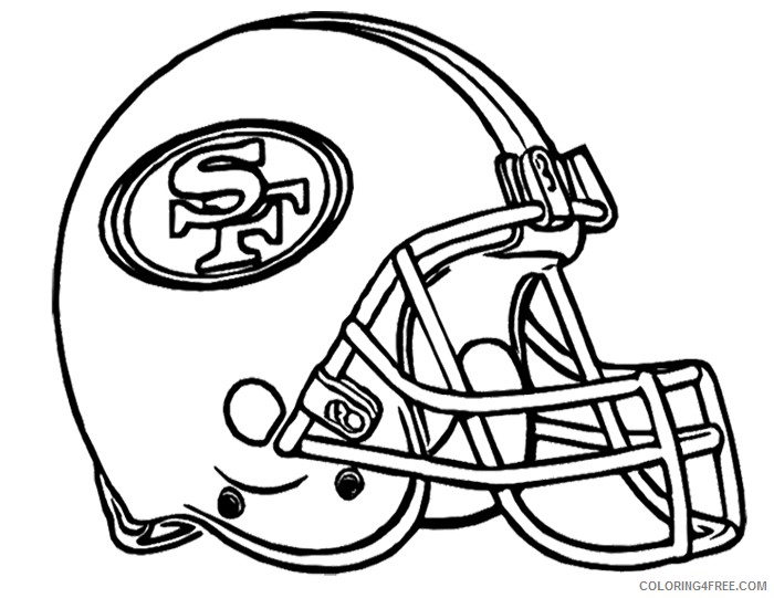 helmet of american football coloring pages Coloring4free