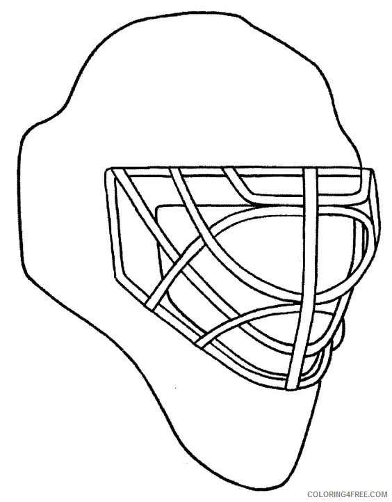 hockey coloring pages goalie mask Coloring4free