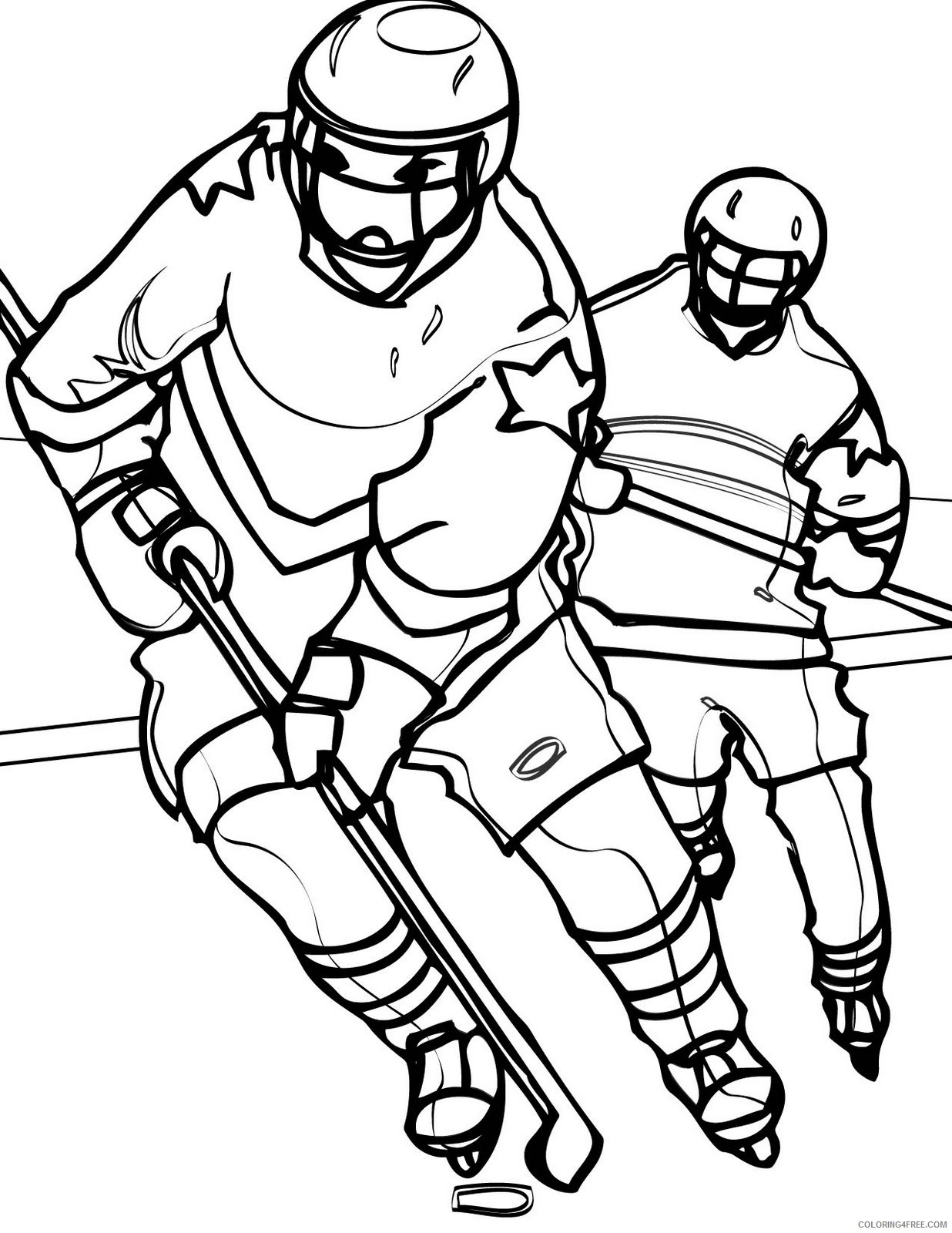 hockey coloring pages nhl Coloring4free