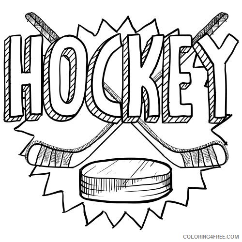 hockey coloring pages stick and puck Coloring4free