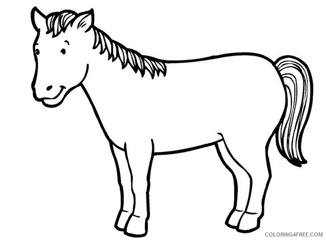horse coloring pages for preschooler Coloring4free