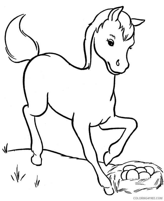 horse coloring pages for toddler Coloring4free