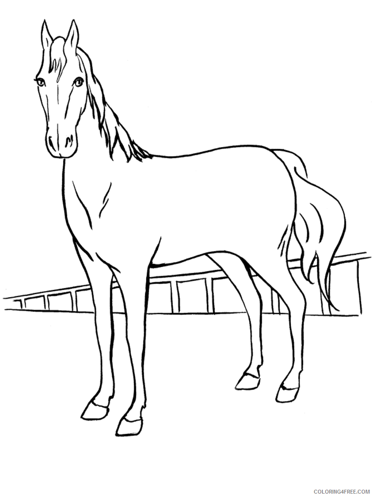 horse coloring pages printable Coloring4free