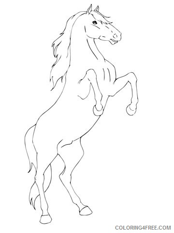 horse coloring pages standing up Coloring4free