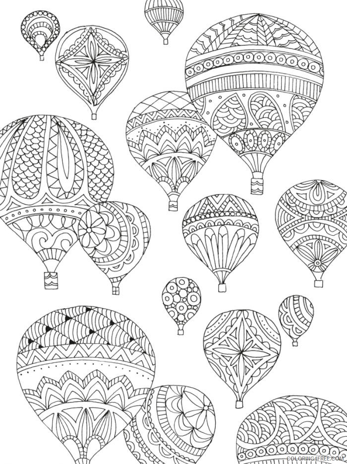hot air balloon coloring pages for adults Coloring4free