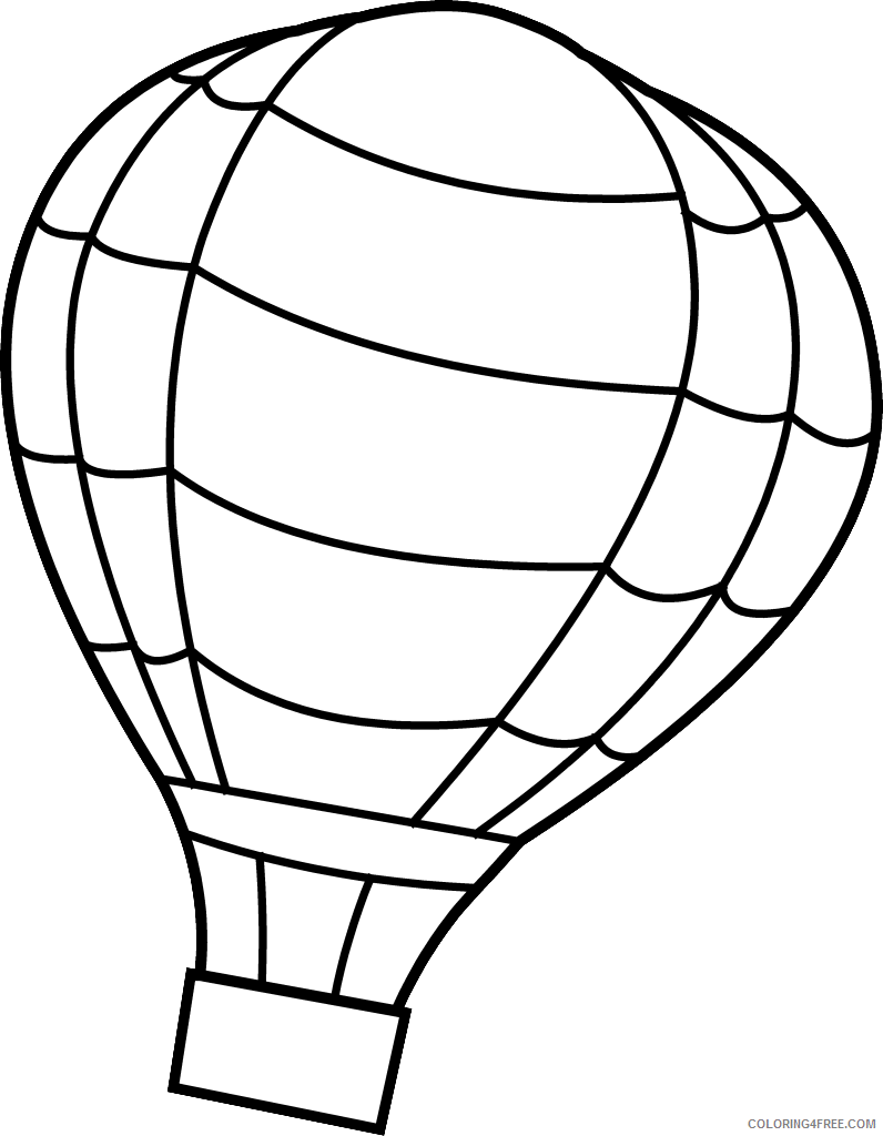 hot air balloon coloring pages for kids Coloring4free