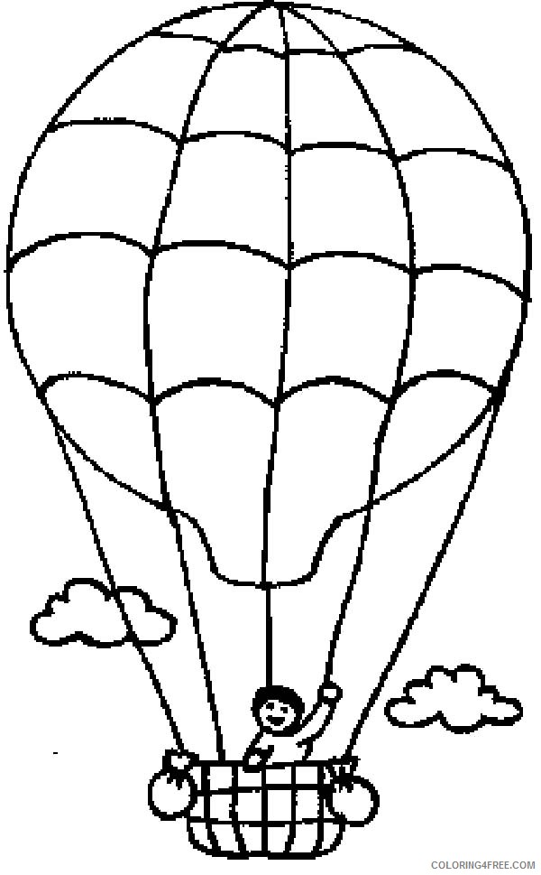 hot air balloon coloring pages for kindergarten Coloring4free