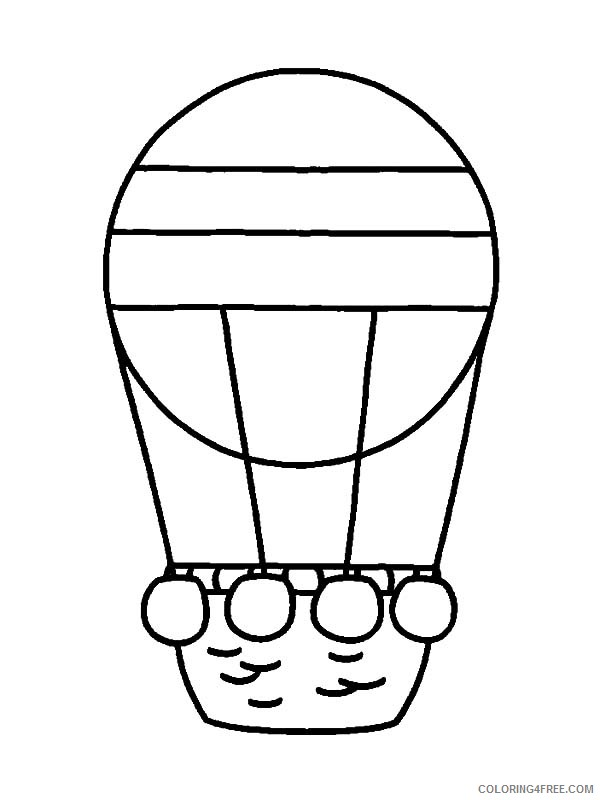 hot air balloon coloring pages for preschool Coloring4free