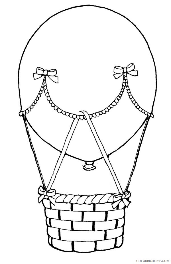 hot air balloon coloring pages free Coloring4free