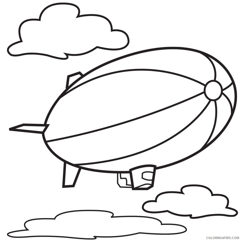 hot air balloon coloring pages free printable Coloring4free