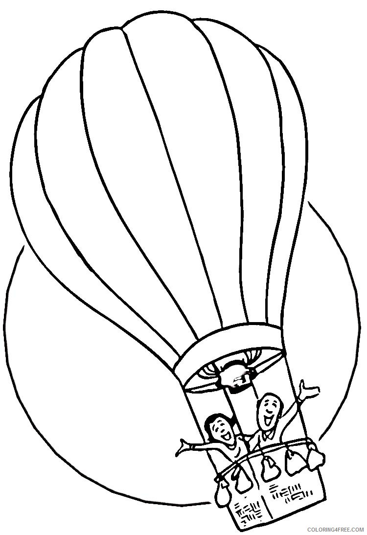 hot air balloon coloring pages kids adventure Coloring4free