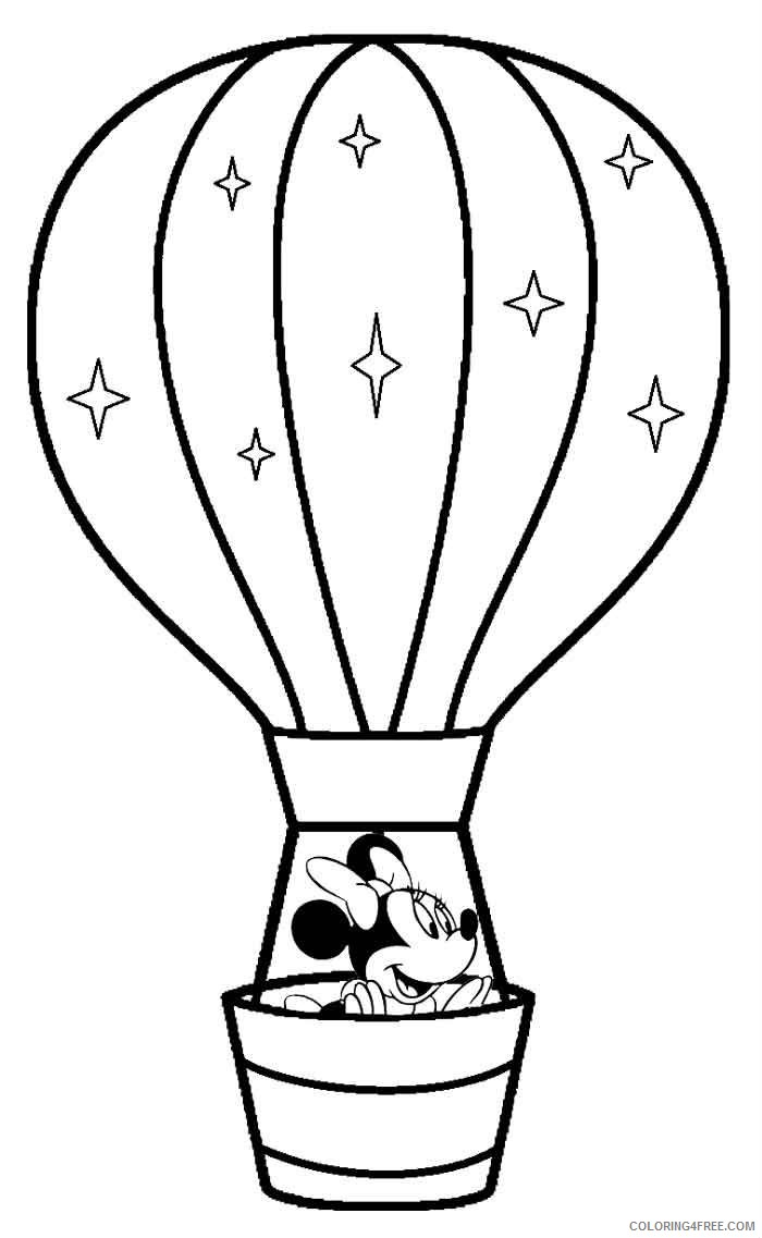 hot air balloon coloring pages minnie mouse Coloring4free