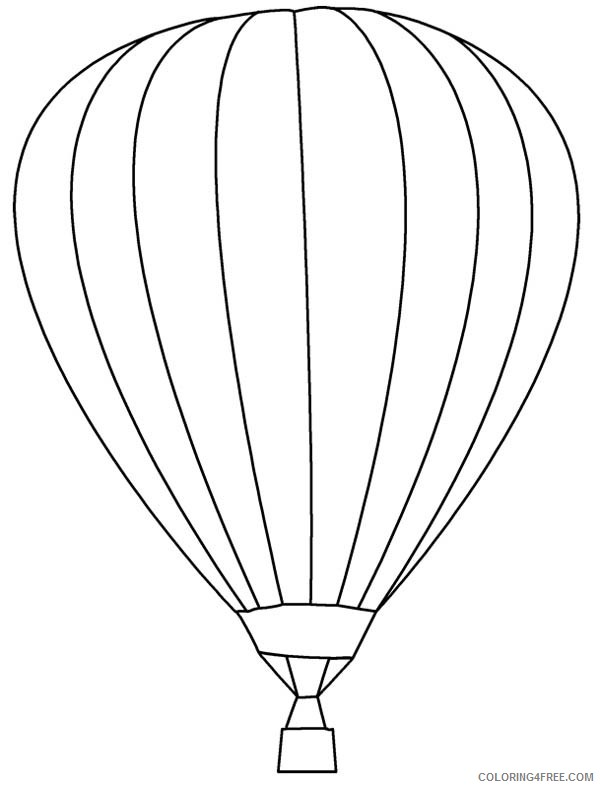 hot air balloon coloring pages printable for kids Coloring4free