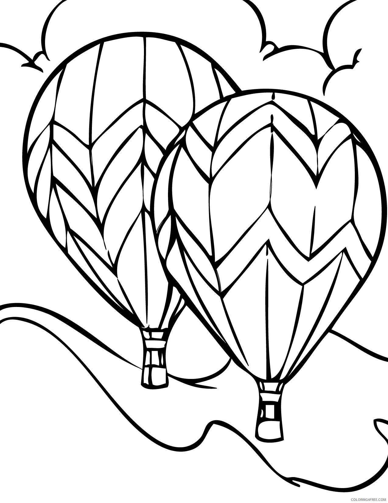hot air balloon coloring pages to print Coloring4free