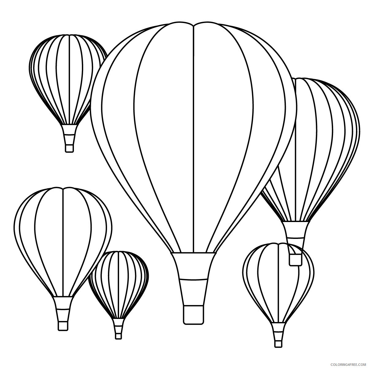 hot air balloon festival coloring pages Coloring4free