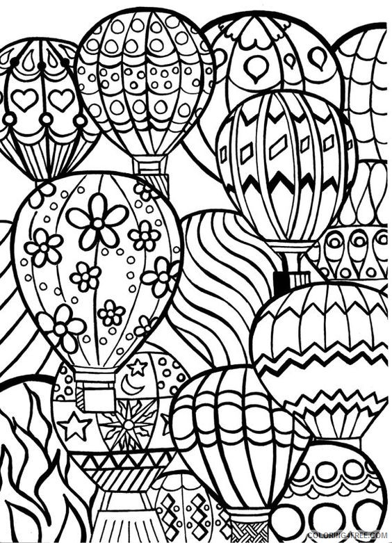 hot air balloon festival coloring pages for adults Coloring4free