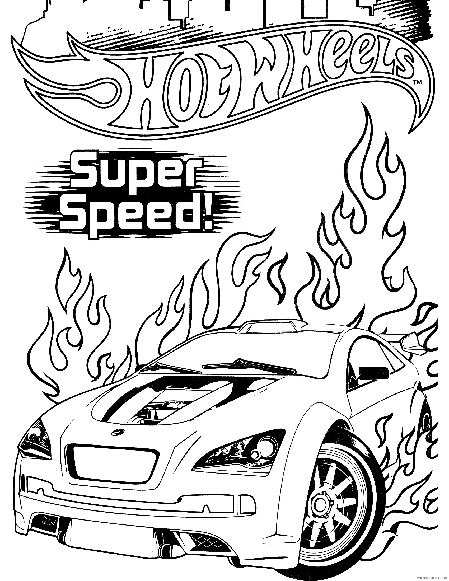 hot wheels coloring pages super speed Coloring4free