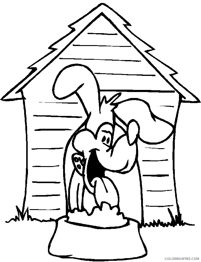 house coloring pages dog house Coloring4free