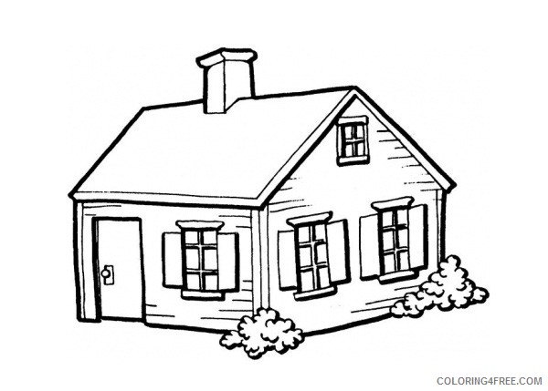 house coloring pages for kindergarten Coloring4free