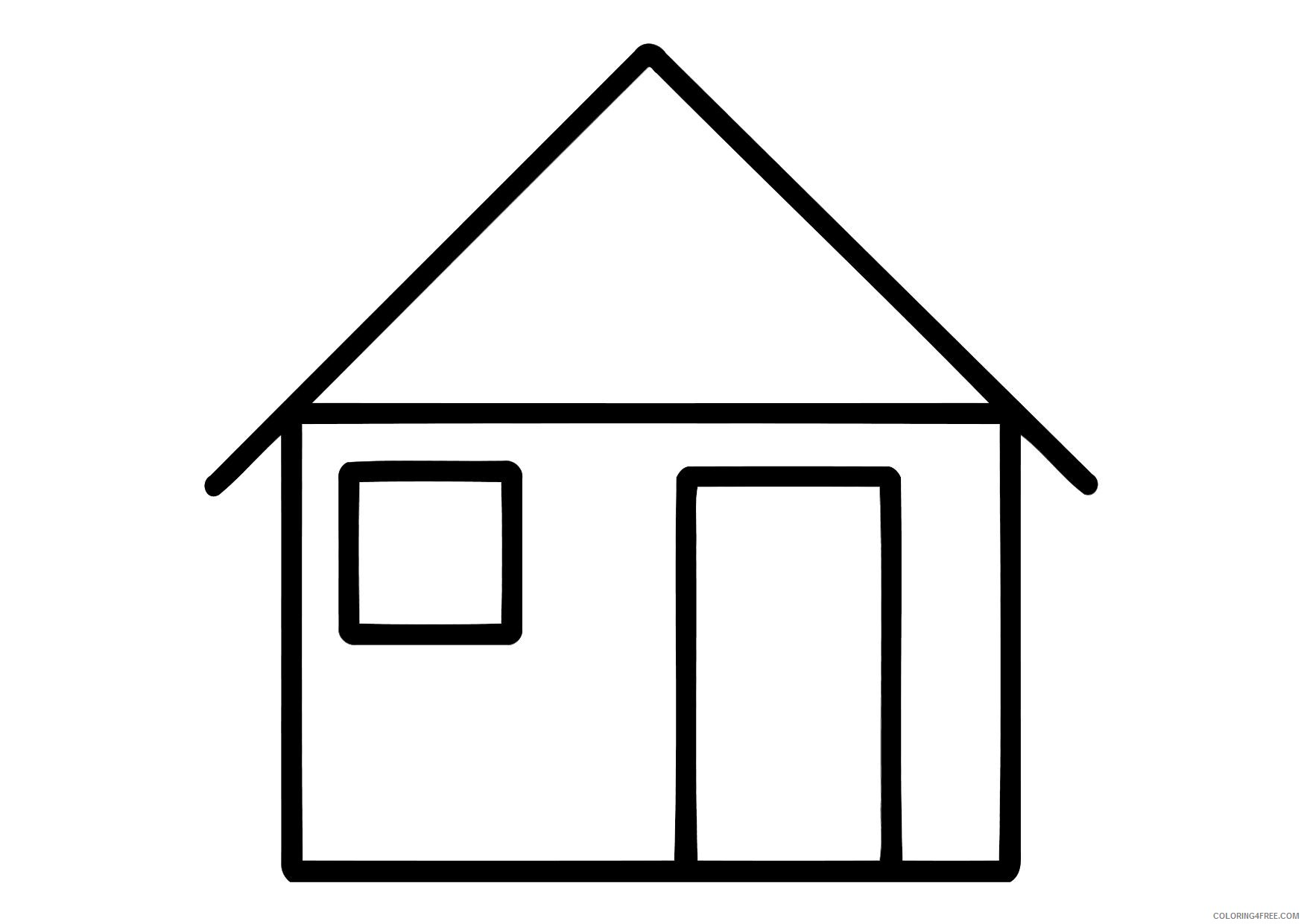 house coloring pages for preschoolers Coloring4free