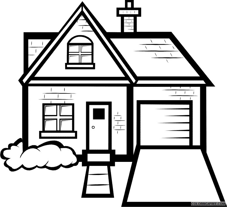 house coloring pages free for kids Coloring4free