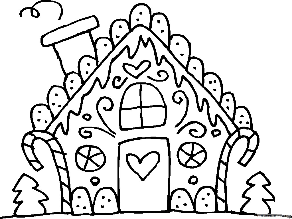 house of gingerbread man coloring pages Coloring4free