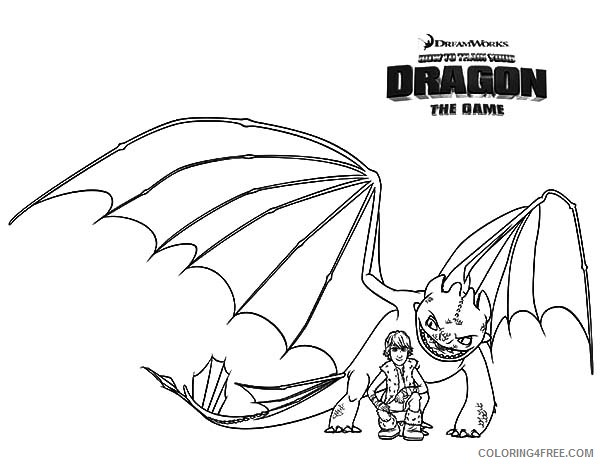 how to train your dragon 2 coloring pages for kids Coloring4free