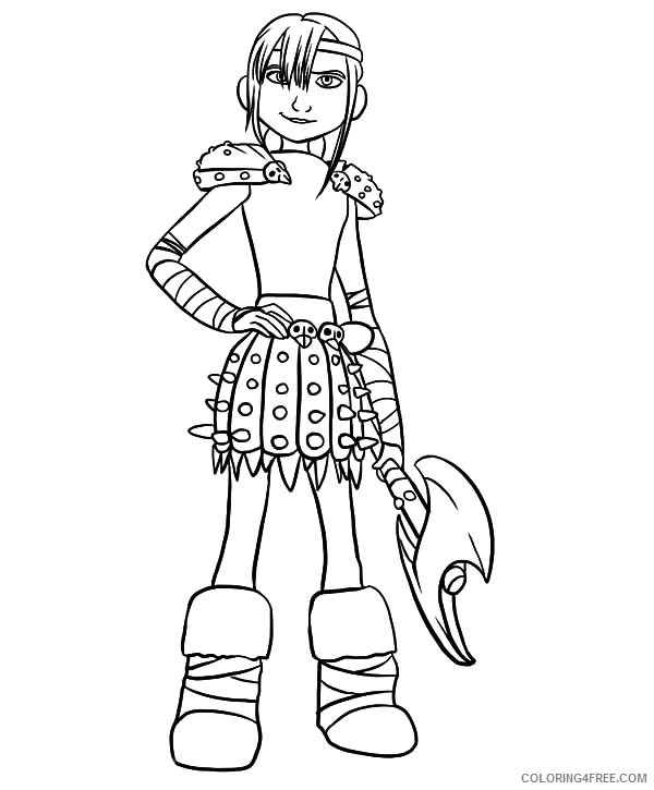 how to train your dragon coloring pages astrid Coloring4free